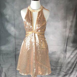 {Free People} Sequin Mini Dress